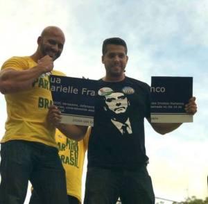 Bolsonaristas - placa Marielle