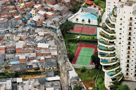 Contraste social Brasil